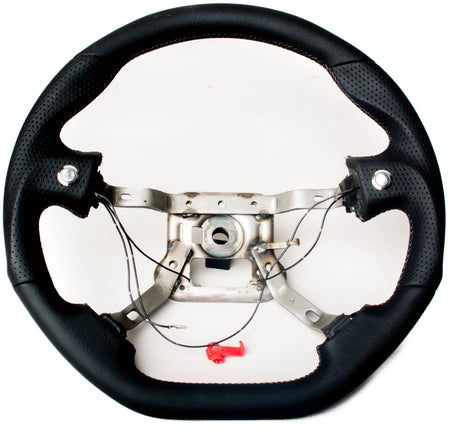 Enhanced Steering Wheel for Mazda Miata NA Leather with Grey Stitching
