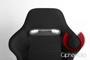 CPA1013 BLACK CLOTH CIPHER AUTO RACING SEATS - PAIR