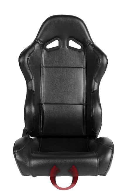CPA1001 ALL BLACK LEATHERETTE CIPHER AUTO RACING SEATS - PAIR