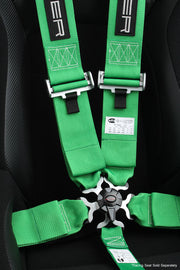 CPA4005GN CIPHER RACING GREEN 5 POINT 3 INCHES CAMLOCK QUICK RELEASE RACING HARNESS W/ SNAP HOOK & EYE BOLTS - SFI 16.1
