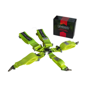 CPA4005 Cipher Racing Neon Yellow 5 Point 3 Inches Camlock Quick Release Racing Harness w/ Snap Hook & Eye Bolts - SFI 16.1-----Out of stock ETA---8/20/2020