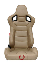CPA2001PCFBG-GD CIPHER EURO RACING SEATS TAN LEATHERETTE CARBON FIBER **SPECIAL EDITION** - PAIR