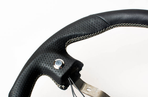 Enhanced Steering Wheel for Mazda Miata NA Leatherette with Silver ...
