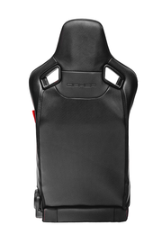CPA2009RS AR-9 Revo Racing Seats Black Leatherette Carbon Fiber with Red Diamond Stitching - Pair (NEW)