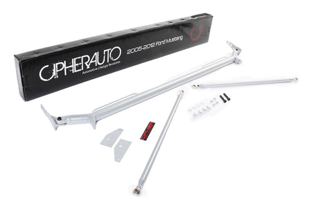 2005-2014 FORD MUSTANG CIPHER RACING SILVER COATING CUSTOM HARNESS BAR