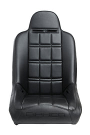CPA3003 ALL BLACK LEATHERETTE CIPHER AUTO UNIVERSAL FIXED BACK SUSPENSION SEAT - SINGLE