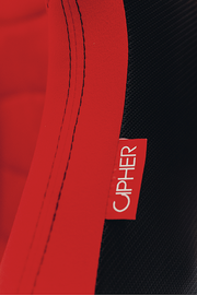 CPA2009 Cipher AR-9 Revo Racing Seats  All Red Suede and Fabric w/ Carbon Fiber Polyurethane Backing - Pair