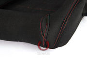 CPA1013 BLACK CLOTH W/ RED STITCHING CIPHER AUTO RACING SEATS - PAIR