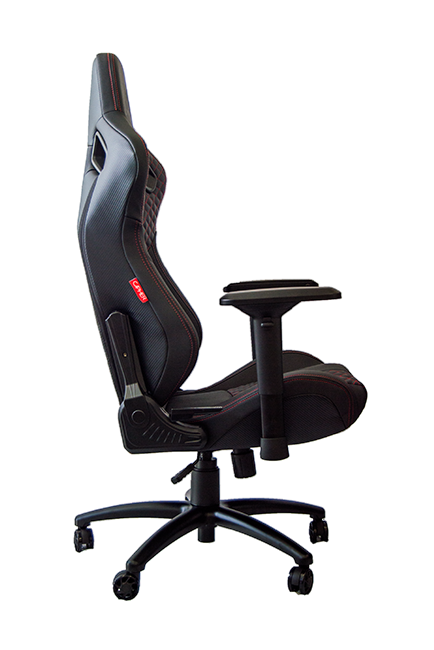 Tremendous Rs Racing Style Seat Black Leatherette Carbon Fiber With Red Caraccident5 Cool Chair Designs And Ideas Caraccident5Info