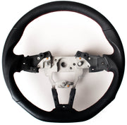 Enhanced Steering Wheel for Mazda Miata ND Leather with Magenta/Red Wine Stitching