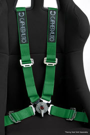 CPA4001GN CIPHER RACING GREEN 4 POINT 2 INCHES CAMLOCK QUICK RELEASE RACING HARNESS - PAIR