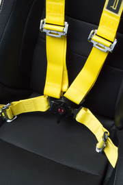 CPA4001YLV2 Yellow 4 Point 2 Inches Camlock Quick Release Racing Harness - CIPHER Logo Version 2 - Pair