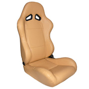 CPA1001 Maple Tan Leatherette Cipher Auto Racing Seats - Pair