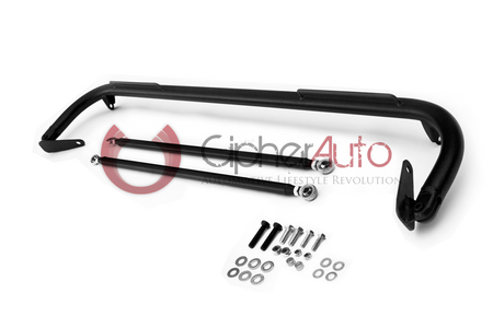 Cipher Racing Harness Bar Black Powder Coated (2012-2015 Honda Civic)