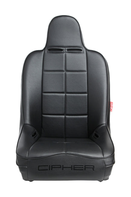 CPA3004 ALL BLACK LEATHERETTE CIPHER AUTO UNIVERSAL FIXED BACK SUSPENSION SEAT - SINGLE