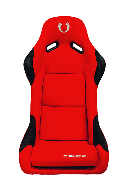CPA2011 All Red Fabric w/ PVC Dotted Black Cloth Accents Cipher Auto FRP Bucket Seat - Single (NEW!)