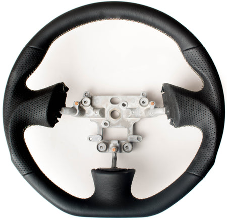 Enhanced Steering Wheel for Mazda Miata NB Leather with Silver Stitching
