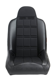CPA3003 BLACK LEATHERETTE W/ FABRIC INSERT CIPHER AUTO UNIVERSAL FIXED BACK SUSPENSION SEAT - SINGLE