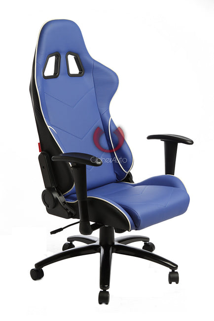 CPA5001 ALL BLUE LEATHERETTE CIPHER AUTO OFFICE RACING SEAT