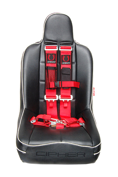 CPA4003RD CIPHER RACING RED 5 POINT 3 INCHES RELEASE RACING HARNESS