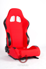 CPA1007 RED CLOTH CIPHER AUTO RACING SEATS - PAIR