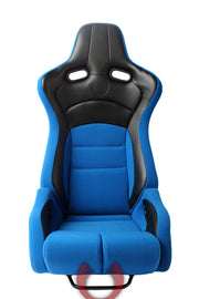 CPA2002CFBKBU  CIPHER VIPER RACING SEATS BLUE CLOTH W/ BLACK CARBON PU - PAIR
