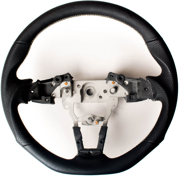 Enhanced Steering Wheel for Mazda Miata ND Leather with Silver Stitching