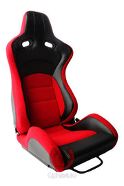 CPA2003 Cipher VP-8 Racing Seats Red w/ Black Carbon PU - Pair