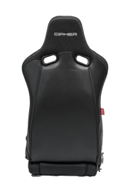 CPA2002 Cipher Viper Racing Seats Black Cloth Black Carbon PU w/ White Stitching - Pair