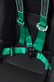 CPA4001GNV2 Green 4 Point 2 Inches Camlock Quick Release Racing Harness - CIPHER Logo Version 2 - Pair