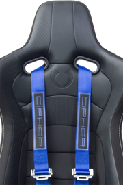 CPA4001BLV2 Blue 4 Point 2 Inches Camlock Quick Release Racing Harness - CIPHER Logo Version 2 - Pair