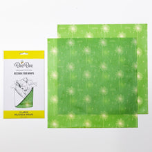 Two large organic cotton beeswax food wraps
