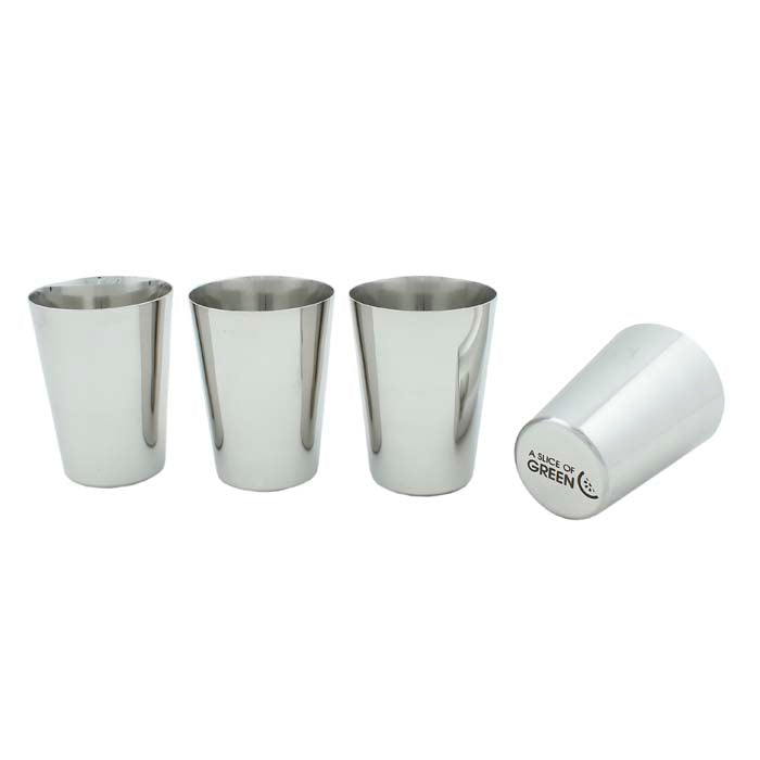 Stainless Steel Cup - Set of 4
