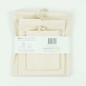 Organic Cotton Produce Bags - Variety Pack - Set of 3