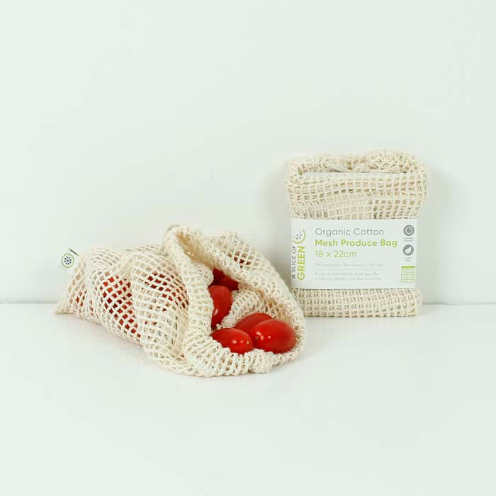 Organic Cotton Mesh Produce Bag - Small