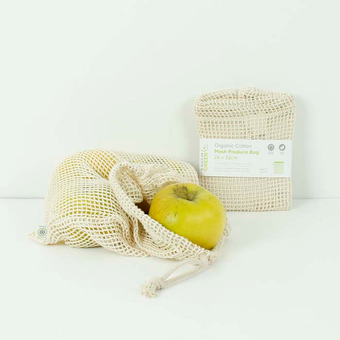 Organic Cotton Mesh Produce Bag - Medium