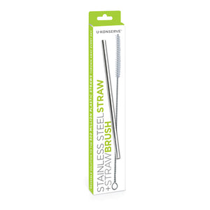 Reusable Stainless Steel Straw and Brush Set