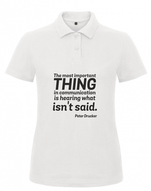 Short Sleeve Women T-Shirt Peter Drucker Quote