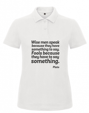 Open image in slideshow, Short Sleeve Women T-Shirt Plato Quote