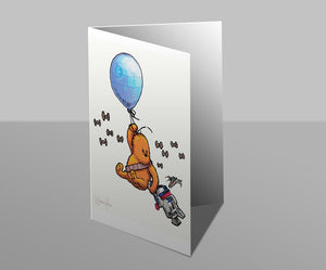Wookiee the Chew - A Biped Of Very Little Brain - Greetings Card
