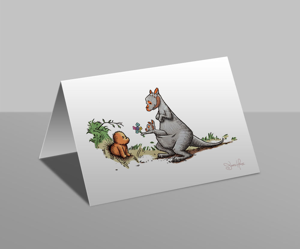 Wookiee the Chew - Flowers Lead To Friendship - Greetings Card