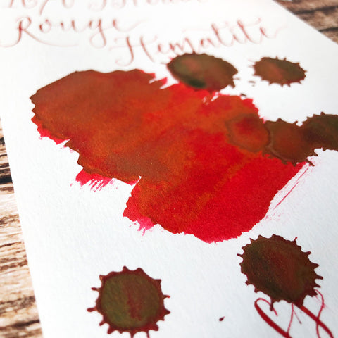 J Herbin 1670 Rouge Hematite Colour Swatch Close Up