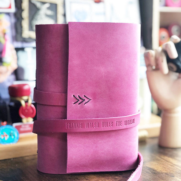 PINK LEATHER JOURNAL
