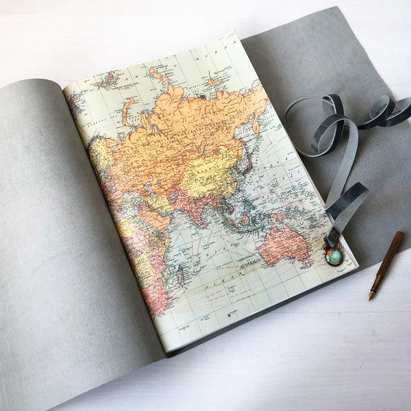 A3 Travel Scrapbook | Leather Scrapbook | Large Sketchbook