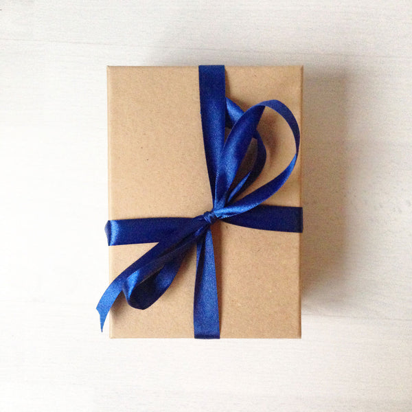 A6 kraft brown gift box front