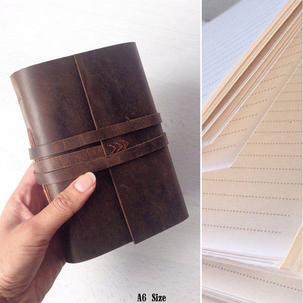 A6 lined leather journal