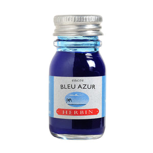 J Herbin Ink 10ml Bottle | Bleu Azur