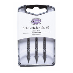 Brause set of 3 nibs no: n65 ecoliere