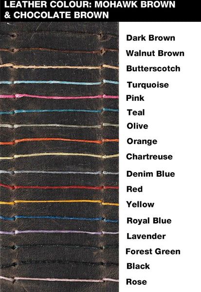 Leather & thread, stitching colour chart