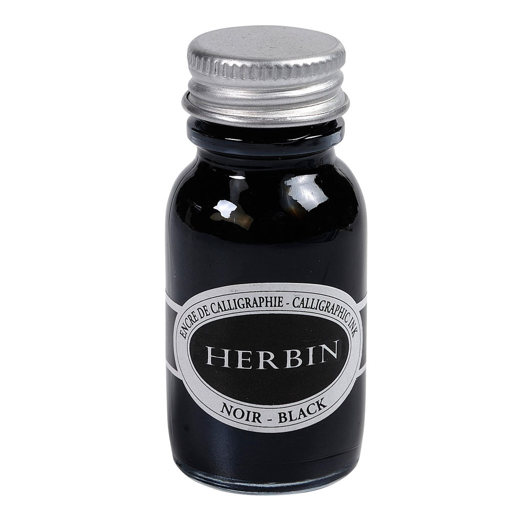 Herbin black calligraphy ink 15ml travel bottle